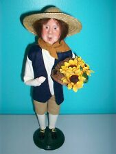 Byers Choice Williamsburg - Fall Harvest Man w/Beehive & Sunflowers - 2008