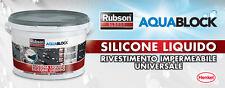 SILICONE LIQUIDO GRIGIO SL3000 RUBSON HENKEL IMPERMEABILE UNIVERSALE KG 5
