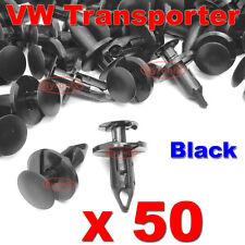 50 VW TRANSPORTER T4 T5 LONGER LONG TRIM PANEL CLIPS BLACK VAN CARPET LINING
