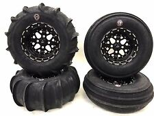 DWT GMZ Beadlock Sand Stripper Dune Paddle Tires Front Rear Polaris RZR XP Turbo