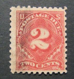 1916 US S# J60, 2c Postage Due Stamp carmine Used vg-f