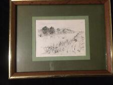 "James Abbott McNeill Whistler ""Sketching No. 1"" 1861 Drypoint Etching"