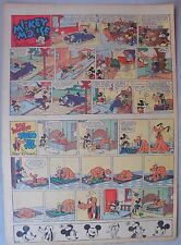 Mickey Mouse Sunday Page by Walt Disney from 9/3/1939 Tabloid Page Size