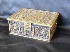 ANTIQUE Repousse German (Lion on E mark), Cupids n the Garden hinged box, no key