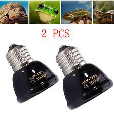 2PCS 100W Reptile Pet Breeding Ceramic Emitter Heat Heater Light Lamp Bulb