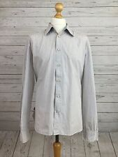 Levi Strauss & Co Men's White Striped Long Sleeve Buttoned Shirt Size XL