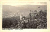 BADEN-BADEN um 1900 Gruss aus Litho-AK Schloss Panorama alte Postkarte ungelauf.