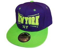 BASECAP Baseball SNAP BACK CAP Lila Grün New York Fittet Damen Herren NY 3
