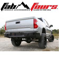 Fab Fours Premium HD Matte Black Rear Sensor Bumper For 2014-2018 Toyota Tundra