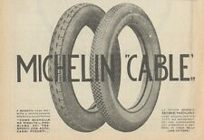 Z1783 Pneumatici MICHELIN Cable - Pubblicità d'epoca - 1923 Old advertising
