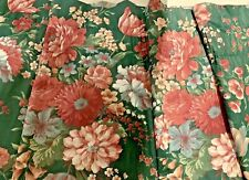 "Vintage Croscill Blouson Valance Green & Pink Floral  90"" X  18""  Beautiful MINT"