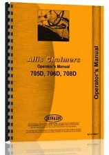 Allis Chalmers 705D 706D 708D Forklift Operators Manual (AC-O-705D+)