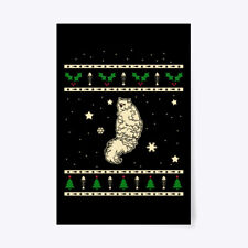"""Christmas Selkirk Rex Gift Poster - 24""""x36"""""""