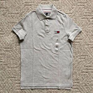 NWT Tommy Hilfiger Men's Big Logo Short Sleeve Polo Shirt Regular Fit Mesh Knit