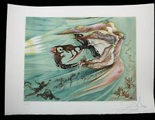 SALVADOR DALI Lithograph SURREALIST ANGELS Signed ARCHES Paper 1979