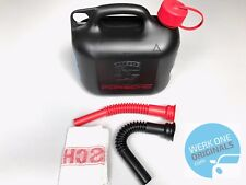 Porsche Classic Plastic Fuel Can Jerrycan with spouts and cloth