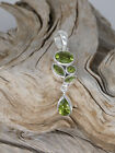 Peridot Bezel Set August Birthstone Sterling Silver 925 Handcrafted Pendant A9
