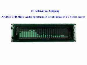 AK2515 VFD Music Audio Spectrum 15 Level Indicator VU Meter Screen