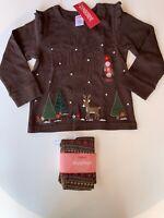 Gymboree Girl's 3T/3 Longsleeve Reindeer Shirt & Coordinating Leggings NWT 2006