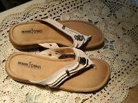 Minnetonka Silverthorne 70000 Sandals, Women's Size 10 White