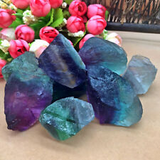 Natural Fluorite Quartz Crystal Stones Rough Polished Gravel Specimen Hot