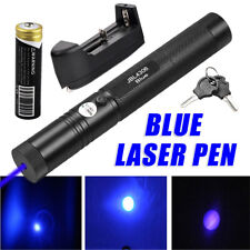 Tactical 405nm Blue Laser Pointer Pen 18650 Visible Beam Light Lazer Pen Battery