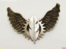 Lo Steampunk Badge Spilla Piuma Quill PENNA INCHIOSTRO scrittore Gufo Ali Harry Potter