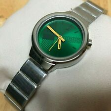 Unused Fastrack India Lady 30m Silver Green Analog Quartz Watch Hour~New Battery