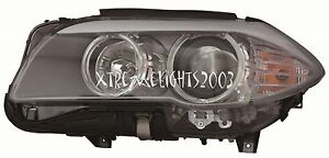 BMW 5 SERIES SEDAN 2011-2013 LEFT DRIVER HEADLIGHT HEAD LIGHT FRONT LAMP