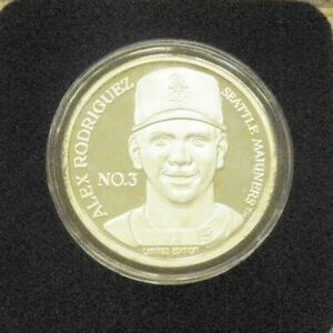 ALEX RODRIGUEZ MARINERS 999 SILVER ROUND ENVIROMINT 1996 ALL-STAR GAME COIN # 32