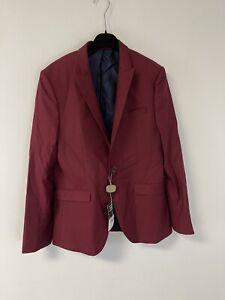 NWT Topman $195 Classic Sz:40R Super Skinny Blazer Suit Jacket RaspBerry N208