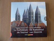 Belgique Série Euro 2009-La Cathédrale de Tournai avec une médaille colorisée