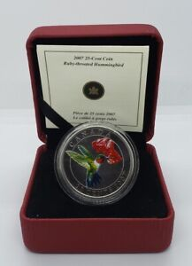 Canada 2007 Bird 25 Cent Coin Ruby-throated Hummingbird