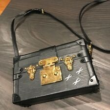 Authentic Louis Vuitton Petite Malle  Mini Trunk Cross-body Bag-USED