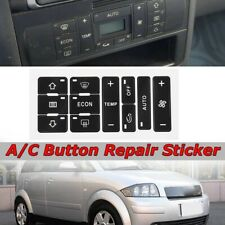 A/C Repair Kit Button Dash AC Replacement Switch Sticker For AUDI A2 / A3 8L