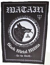 WATAIN - Black Metal Militia - Backpatch - Rücken Aufnäher - Neu #246