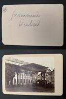 Allemagne, Wiesbaden, promenoir, hôtel de l'Europe  Vintage albumen carte d