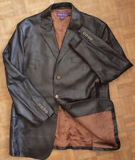Ralph Lauren Purple Label dark brown leather jacket coat 44 / XXL made in Italy