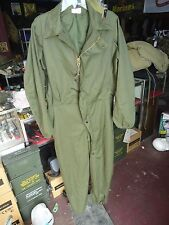 Mens small cold weather mechanics overalls, green US military, Army, USMC, USAF