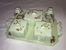 1930s Art Deco Mint Green Vanity Ladies Bakelite Dressing Table Set