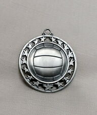 Lot of 8 Volleyball Embossed Silver Nickel Award Medallion Medal Trophy Metal