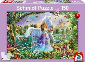 Princess, Unicorn and Castle: Schmidt childrens Jigsaw Puzzle: 150 p'ce age 7 up