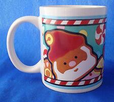 coffee mug cup Christmas gingerbread man Santa Claus & Reindeer