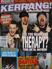 KERRANG 477 - THERAPY?/IRON MAIDEN/ALICE IN CHAINS/GUNS N' ROSES/HENRY ROLLINS