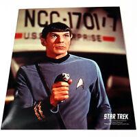 *LEONARD NIMOY* MR. SPOCK HOLDING PHASER Star Trek *8X10 PHOTOGRAPH* TOS Picture