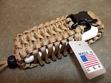 "TAN 550 PARACORD 4.5"" BELT POUCH HAND MADE IN THE USA By Casey's Creations"