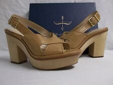 Pour La Victoire 8 M Pabla Cigar Nappa Leather Slingback Heels New Womens Shoes