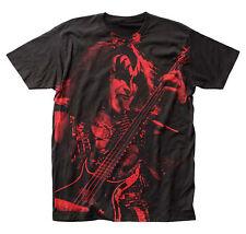 KISS Gene Simmons All Over Photo Huge Jumbo Print T-Shirt New Authentic