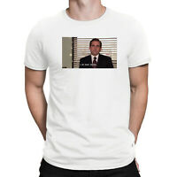 Office Michael Scott I Am Dead Inside Funny Men's White Cotton T Shirt Tee