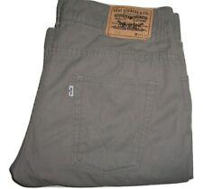 Hommes Levi's 512 Gris Bootcut Coton Jean W34 L31